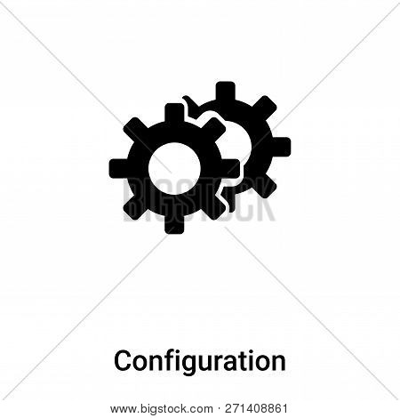Configuration Icon In Trendy Design Style. Configuration Icon Isolated On White Background. Configur