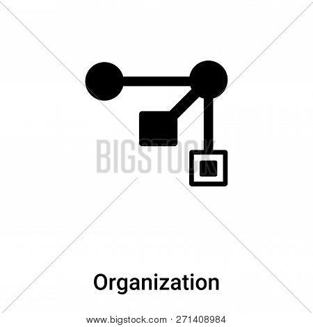 Organization Icon In Trendy Design Style. Organization Icon Isolated On White Background. Organizati