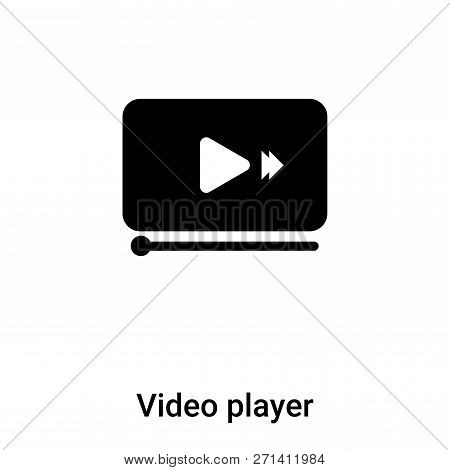 Video Player Icon In Trendy Design Style. Video Player Icon Isolated On White Background. Video Play