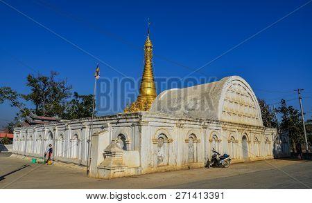 White Temple In Inle Lake, Myanmar
