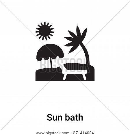 Sun Bath Icon In Trendy Design Style. Sun Bath Icon Isolated On White Background. Sun Bath Vector Ic