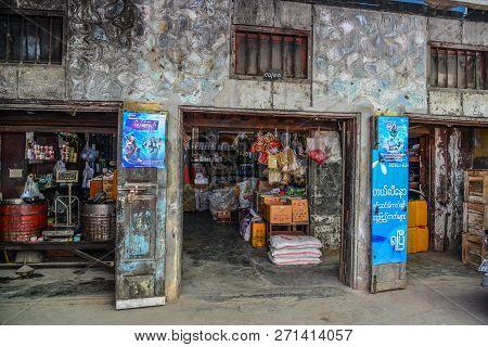 Taunggyi, Myanmar - Feb 8, 2018. Grocery Store In Taunggyi, Myanmar. Taunggyi Is The Capital Of Shan