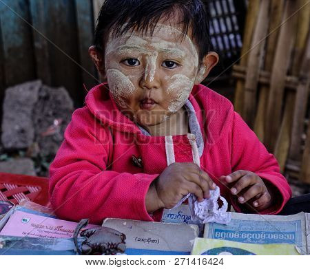 Portrait Of Burmese Boy