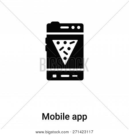 Mobile App Icon In Trendy Design Style. Mobile App Icon Isolated On White Background. Mobile App Vec