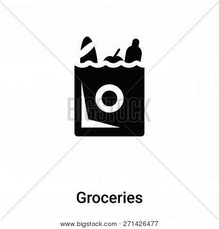 Groceries Icon In Trendy Design Style. Groceries Icon Isolated On White Background. Groceries Vector