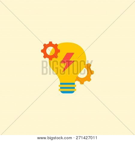 Brainstorm Icon Flat Element.  Illustration Of Brainstorm Icon Flat Isolated On Clean Background For