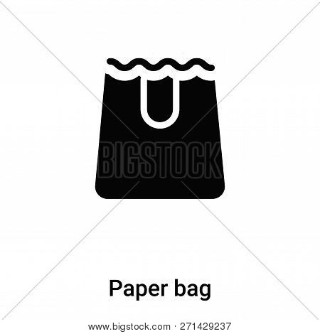 Paper Bag Icon In Trendy Design Style. Paper Bag Icon Isolated On White Background. Paper Bag Vector