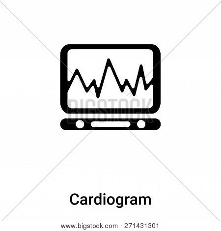 Cardiogram Icon In Trendy Design Style. Cardiogram Icon Isolated On White Background. Cardiogram Vec