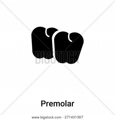 Premolar Icon In Trendy Design Style. Premolar Icon Isolated On White Background. Premolar Vector Ic