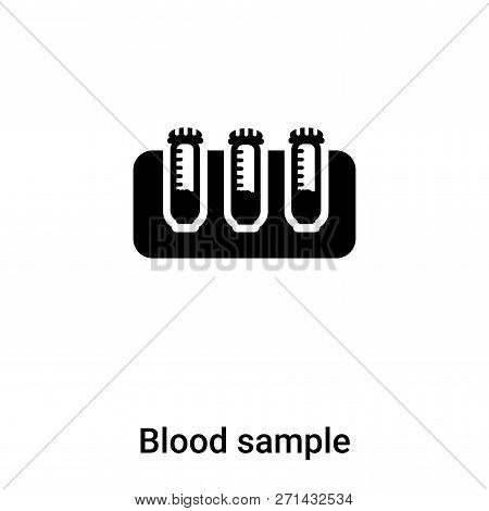 Blood Sample Icon In Trendy Design Style. Blood Sample Icon Isolated On White Background. Blood Samp