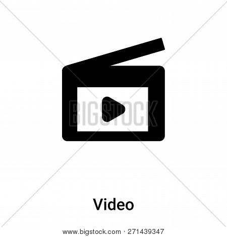 Video Icon In Trendy Design Style. Video Icon Isolated On White Background. Video Vector Icon Simple