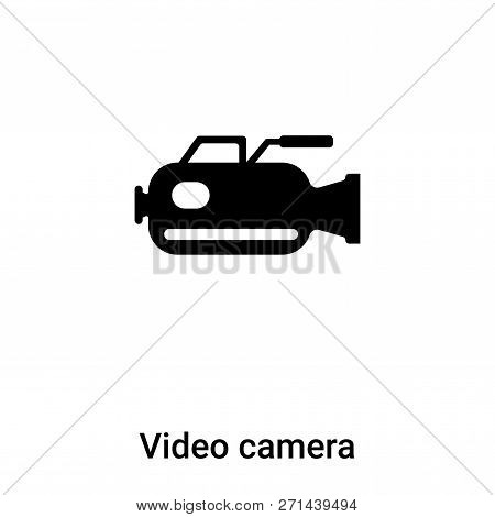 Video Camera Icon In Trendy Design Style. Video Camera Icon Isolated On White Background. Video Came