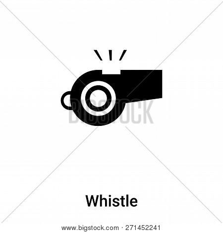 Whistle Icon In Trendy Design Style. Whistle Icon Isolated On White Background. Whistle Vector Icon