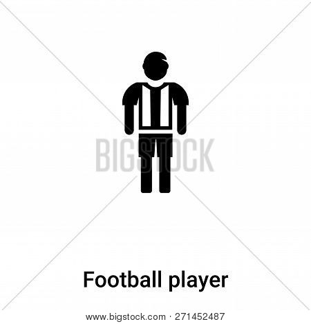 Football Player Icon In Trendy Design Style. Football Player Icon Isolated On White Background. Foot