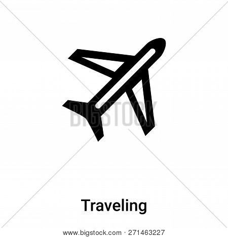 Traveling Icon In Trendy Design Style. Traveling Icon Isolated On White Background. Traveling Vector