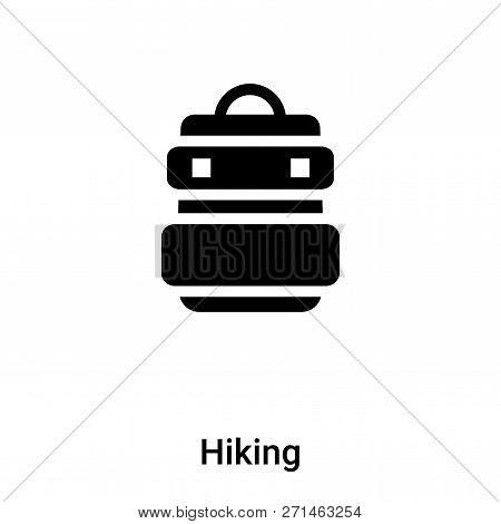 Hiking Icon In Trendy Design Style. Hiking Icon Isolated On White Background. Hiking Vector Icon Sim