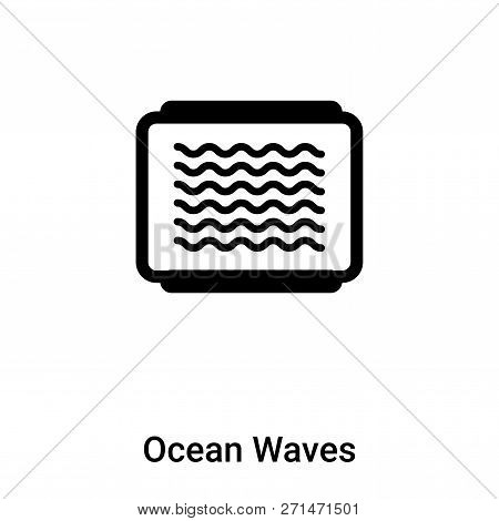 Ocean Waves Icon In Trendy Design Style. Ocean Waves Icon Isolated On White Background. Ocean Waves
