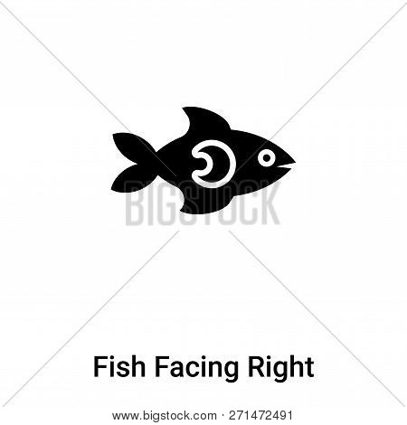 Fish Facing Right Icon In Trendy Design Style. Fish Facing Right Icon Isolated On White Background.