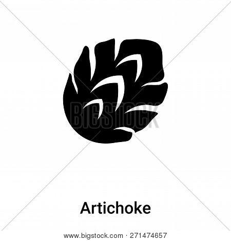Artichoke Icon In Trendy Design Style. Artichoke Icon Isolated On White Background. Artichoke Vector