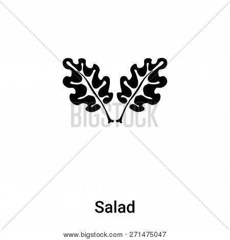 Salad Icon In Trendy Design Style. Salad Icon Isolated On White Background. Salad Vector Icon Simple