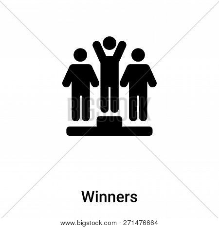 Winners Icon In Trendy Design Style. Winners Icon Isolated On White Background. Winners Vector Icon