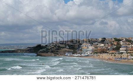 Cava D Aliga, Province Of Ragusa, Sicily. Cava  D Aliga Is A Small Seaside Town In Southeast Of Sici