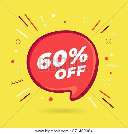 Special Offer Sale Red Bubble. Discount Offer Price Label, Symbol For Advertising Campaign In Retail