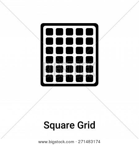 Square Grid Icon In Trendy Design Style. Square Grid Icon Isolated On White Background. Square Grid