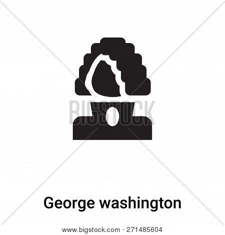 George Washington Icon In Trendy Design Style. George Washington Icon Isolated On White Background.