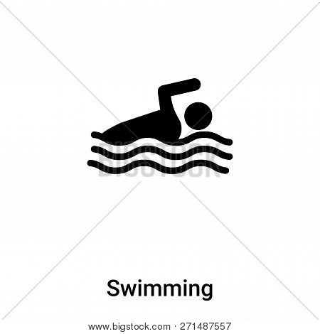 Swimming Icon In Trendy Design Style. Swimming Icon Isolated On White Background. Swimming Vector Ic