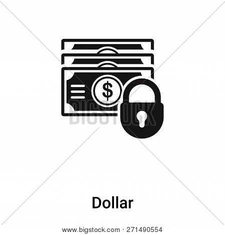 Dollar Icon In Trendy Design Style. Dollar Icon Isolated On White Background. Dollar Vector Icon Sim