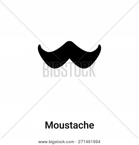 Moustache Icon In Trendy Design Style. Moustache Icon Isolated On White Background. Moustache Vector