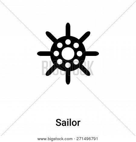 Sailor Icon In Trendy Design Style. Sailor Icon Isolated On White Background. Sailor Vector Icon Sim