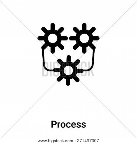 Process Icon In Trendy Design Style. Process Icon Isolated On White Background. Process Vector Icon