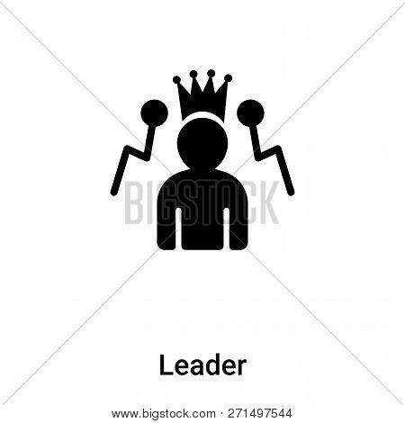 Leader Icon In Trendy Design Style. Leader Icon Isolated On White Background. Leader Vector Icon Sim