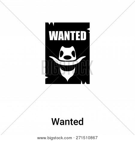 Wanted Icon In Trendy Design Style. Wanted Icon Isolated On White Background. Wanted Vector Icon Sim