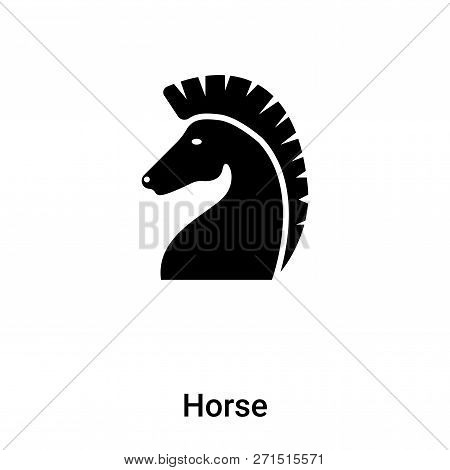Horse Icon In Trendy Design Style. Horse Icon Isolated On White Background. Horse Vector Icon Simple