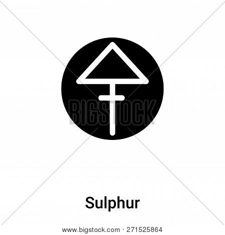 Sulphur Icon In Trendy Design Style. Sulphur Icon Isolated On White Background. Sulphur Vector Icon