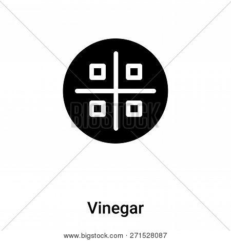 Vinegar Icon In Trendy Design Style. Vinegar Icon Isolated On White Background. Vinegar Vector Icon