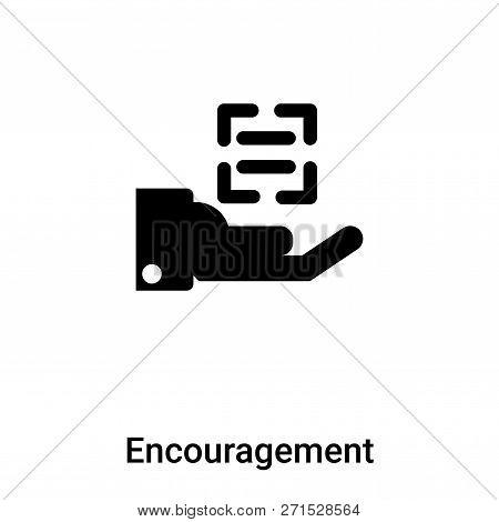 Encouragement Icon In Trendy Design Style. Encouragement Icon Isolated On White Background. Encourag