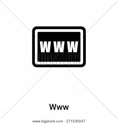 Www Icon In Trendy Design Style. Www Icon Isolated On White Background. Www Vector Icon Simple And M