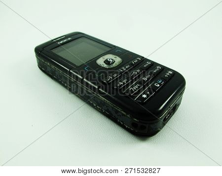 Kediri, Indonesia - November 15, 2018 - Old Nokia Mobile Phone