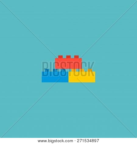 Lego Icon Flat Element. Vector Illustration Of Lego Icon Flat Isolated On Clean Background For Your
