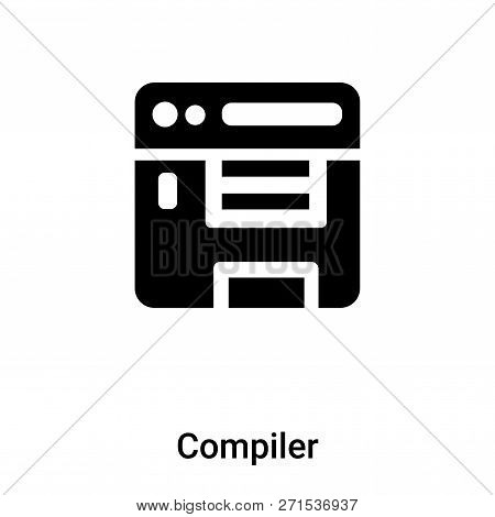 Compiler Icon In Trendy Design Style. Compiler Icon Isolated On White Background. Compiler Vector Ic