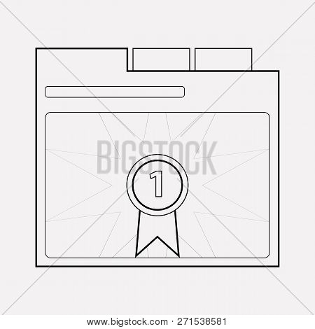 Page Rank Badge Icon Line Element.  Illustration Of Page Rank Badge Icon Line Isolated On Clean Back