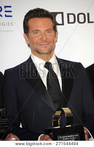 Bradley Cooper at the 32nd American Cinematheque Award Presentation Honoring Bradley Cooper held at the Beverly Hilton Hotel in Beverly Hills, USA on November 29, 2018.