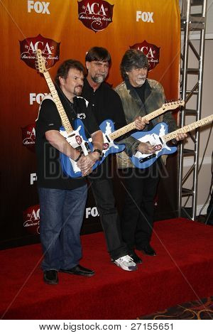 LOS ANGELES - DEC 5:  Jeff Cook; Teddy Gentry; Randy Owen of Alabama in the Press Room of the American Country Awards 2011 at MGM Grand Garden Arena on December 5, 2011 in Las Vegas, NV