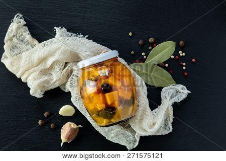 Homemade Orange Cut Pumpkin Pickles