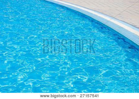 Swimming pool  at hotel close up