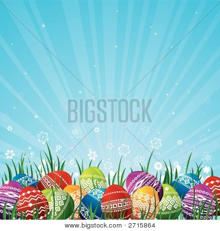 Color Easter Eggs, Vector